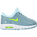 Right view of Girls' Toddler Nike Air Max Zero Essential Casual Running Shoes in Glacier Blue/Volt/White