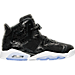 Right view of Girls' Grade School Air Jordan Retro 6 Premium Heiress Collection (3.5y - 9.5y) Basketball Shoes in Black/White/Gym Red