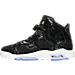 Left view of Girls' Grade School Air Jordan Retro 6 Premium Heiress Collection (3.5y - 9.5y) Basketball Shoes in Black/White/Gym Red