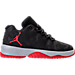Right view of Boys' Preschool Jordan B. Fly Basketball Shoes in Black/University Red/Wolf Grey