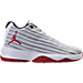 Right view of Boys' Grade School Jordan B. Fly Basketball Shoes in White/Gym Red/Black