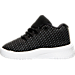 Left view of Boys' Toddler Jordan B. Fly Basketball Shoes in Black/White/Dark Grey/Pure Platinum