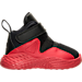 Right view of Boys' Toddler Jordan Formula 23 Basketball Shoes in Black/Gym Red/White