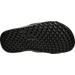 Bottom view of Boys' Preschool Jordan Hydro 6 Slide Sandals in Black/Wolf Grey