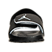 Front view of Boys' Toddler Jordan Hydro 6 Slide Sandals in Black/Wolf Grey