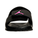 Front view of Girls' Toddler Jordan Hydro 6 Slide Sandals in Black/Hyper Pink