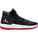 Right view of Men's Air Jordan Melo M-13 Basketball Shoes in Black/Gym Red/White