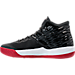 Left view of Men's Air Jordan Melo M-13 Basketball Shoes in Black/Gym Red/White