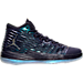 Right view of Men's Air Jordan Melo M-13 Basketball Shoes in Purple Dynasty/Metallic Silver