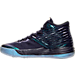 Left view of Men's Air Jordan Melo M-13 Basketball Shoes in Purple Dynasty/Metallic Silver