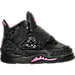 Right view of Girls' Toddler Jordan Son of Mars Basketball Shoes in Black/Hyper Pink/Anthracite