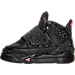 Left view of Girls' Toddler Jordan Son of Mars Basketball Shoes in Black/Hyper Pink/Anthracite