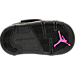 Bottom view of Girls' Toddler Jordan Son of Mars Basketball Shoes in Black/Hyper Pink/Anthracite
