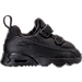Right view of Boys' Toddler Nike Air Max Tiny 90 Running Shoes in Black/Black/Black