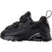 Left view of Boys' Toddler Nike Air Max Tiny 90 Running Shoes in Black/Black/Black