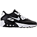 Right view of Boys' Grade School Nike Air Max 90 Ultra 2.0 BR Casual Shoes in Black/White