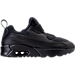 Right view of Boys' Preschool Nike Air Max Tiny 90 Running Shoes in Black/Black/Black