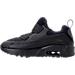 Left view of Boys' Preschool Nike Air Max Tiny 90 Running Shoes in Black/Black/Black