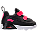 Right view of Girls' Toddler Nike Air Max Tiny 90 Running Shoes in Black/Racer Pink/White