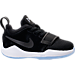 Right view of Boys' Toddler Nike PG 1 Basketball Shoes in Black/White/Yellow