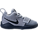 Right view of Boys' Toddler Nike PG 1 Basketball Shoes in Glacier Grey/Armory Blue