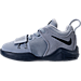 Left view of Boys' Toddler Nike PG 1 Basketball Shoes in Glacier Grey/Armory Blue