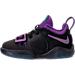 Left view of Boys' Toddler Nike PG 1 Basketball Shoes in Black/Court Purple/Hyper Grape/Jade