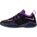 Left view of Boys' Preschool Nike PG 1 Basketball Shoes in Black/Court Purple/Clear Jade