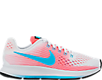 Girls' Grade School Nike Zoom Pegasus 34 Running Shoes