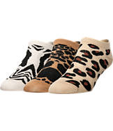 Women's Sof Sole Fashion No Show Liner Animal Print Socks