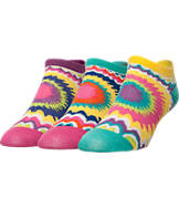 Women's Sof Sole Fashion No Show Liner Tie Dye Socks
