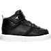 Right view of Boys' Toddler Jordan Heritage Basketball Shoes in Black/White