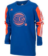 Kids' adidas New York Knicks NBA Prestige Long-Sleeve T-Shirt