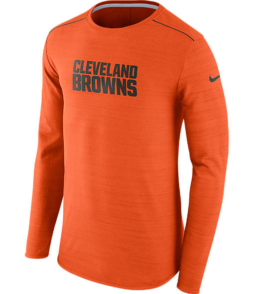 Men's Nike Cleveland Browns NFL Long-Sleeve Poly Player T-Shirt