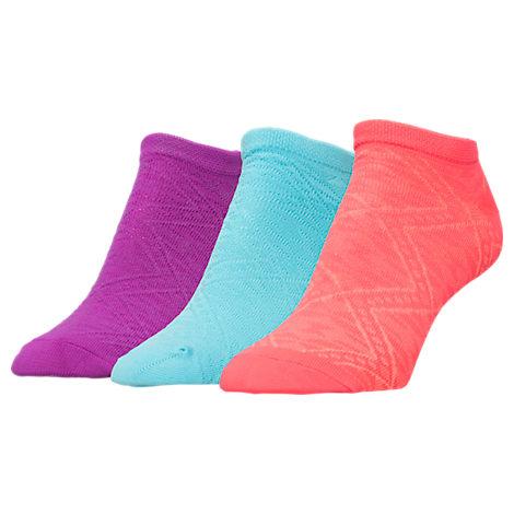 Women's Sof Sole Micro Den Diamond 3-Pack No-Show Socks