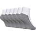 Front view of Finish Line Youth 6-Pack Quarter Socks in White