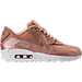 Right view of Women's Nike Air Max 90 Premium Running Shoes in Metallic Red Bronze/Summit White