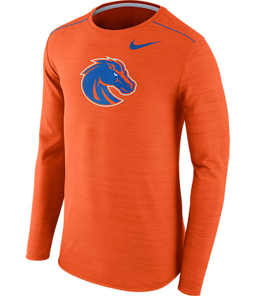 Men's Nike Boise State Broncos College Long-Sleeve Poly Player T-Shirt