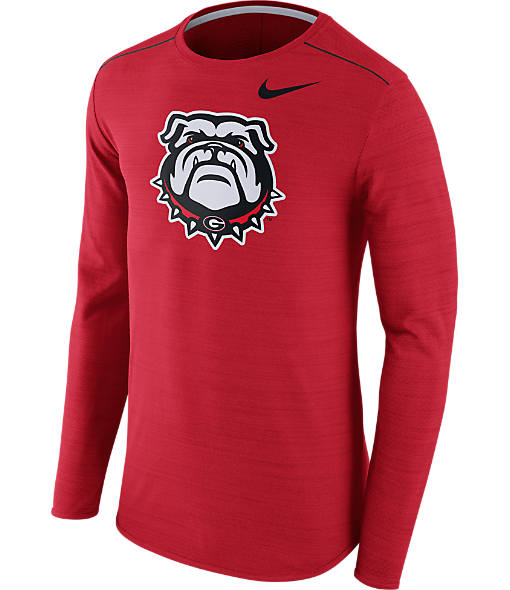 Men's Nike Georgia Bulldogs College Long-Sleeve Poly Player T-Shirt