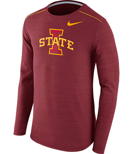 Men's Nike Iowa State Cyclones College Long-Sleeve Poly Player T-Shirt