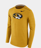Men's Nike Missouri Tigers College Long-Sleeve Poly Player T-Shirt