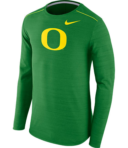 Men's Nike Oregon Ducks College Long-Sleeve Poly Player T-Shirt