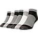 Back view of Men's Finish Line 6-Pack No-Show Socks in Black/White/Grey