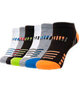 Kids' Finish Line No-Show 6-Pack Socks