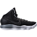 Right view of Men's Nike Hyperdunk 2017 BLK Basketball Shoes in Black/Grey