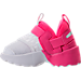 Left view of Girls' Toddler Jordan Trunner LX Training Shoes in Hyper Pink/White