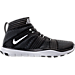 Right view of Men's Nike Free Train Instinct 2 Training Shoes in Black/White/Dark Grey