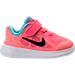 Right view of Girls' Toddler Nike Free RN 2017 Running Shoes in Racer Pink/Black/Lava Glow