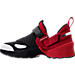 Left view of Boys' Grade School Jordan Trunner LX OG Training Shoes in Black/White/Gym Red