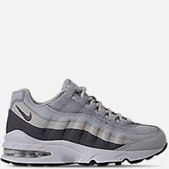 Boys Grade School 나이키 Nike Air Max 95 Casual Shoes,Pure Platinum/Gunsmoke/Light Bone